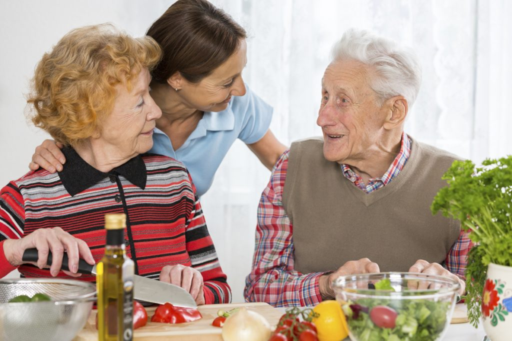 Seniors with home health care provider in San Mateo Burlingame CA